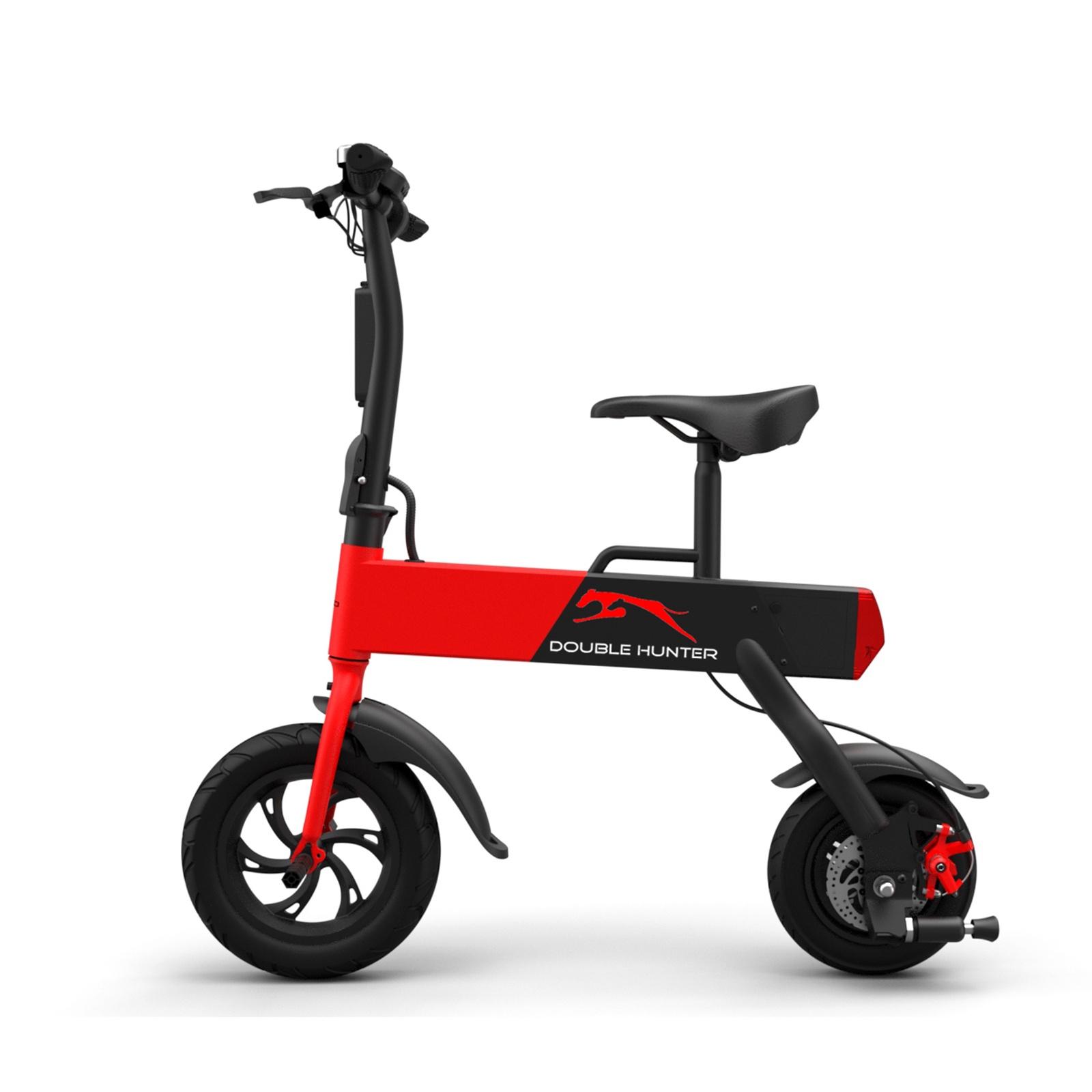 Электровелосипед Double Hunter Городской электробайк, красный