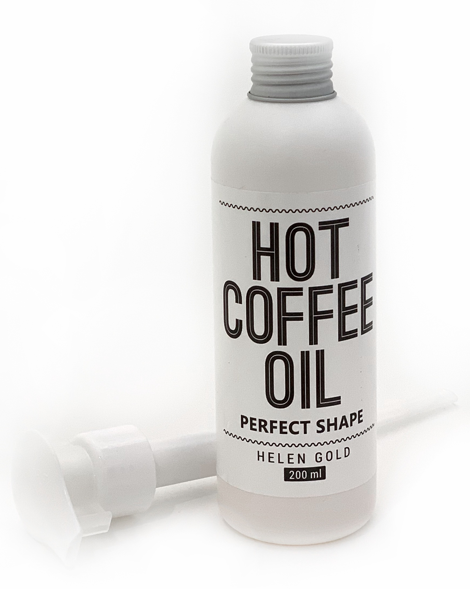 Масло массажное Helen Gold Hot Coffee Oil coffee graphic oil proof sticker