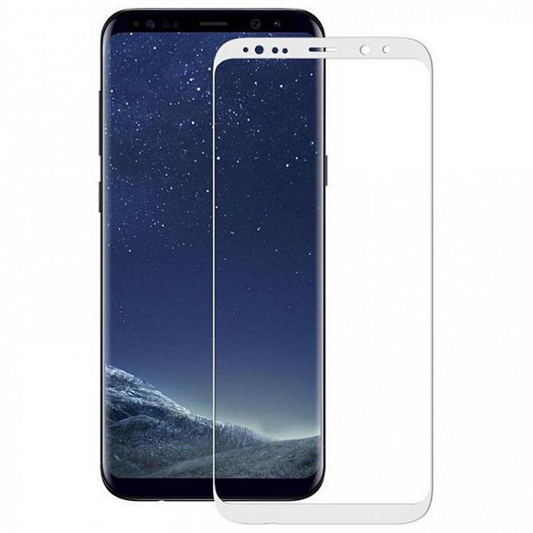 Защитное стекло Samsung Galaxy Note 8 (3D белая рамка), белый защитное стекло mobius samsung note 8 черный