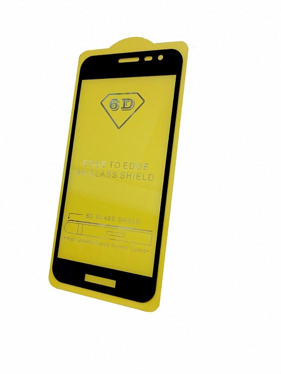 Защитное стекло Samsung Galaxy J2 Core (SM-J260F полная проклейка черная рамка), черный смартфон samsung galaxy j2 prime 8gb sm g532f черный титан