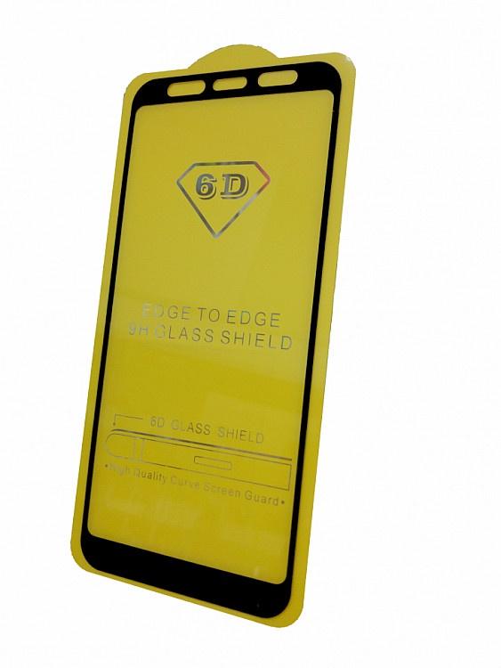 Защитное стекло Samsung Galaxy J4 Core (SM-J410F полная проклейка черная рамка), черный