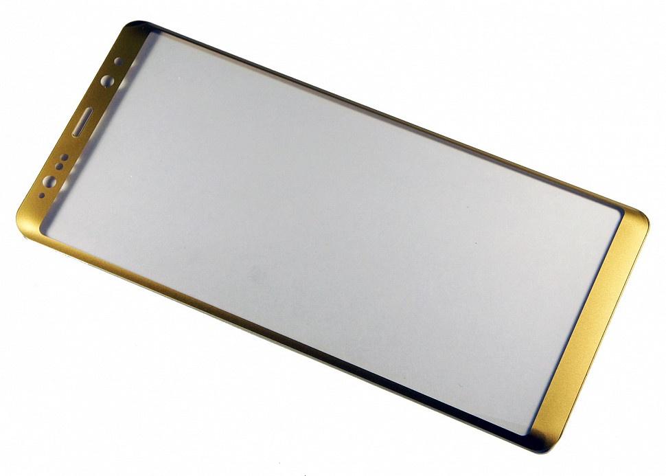 Защитное стекло Samsung Galaxy Note 8 (3D золотая рамка), золотой защитное стекло mobius samsung note 8 черный