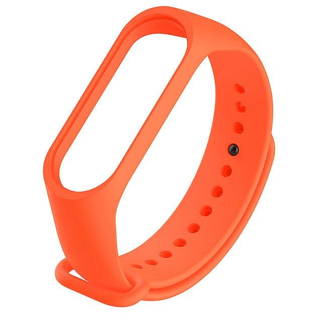 Ремешок для фитнес-браслета Силиконовый ремешок для Xiaomi Mi Band 3 (оранжевый), оранжевый цена и фото