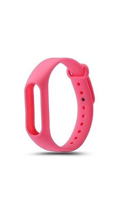 Ремешок для фитнес-браслета Силиконовый ремешок для Xiaomi Mi Band 2 (розовый), розовый оригинальный ремешок для mi band 2 black