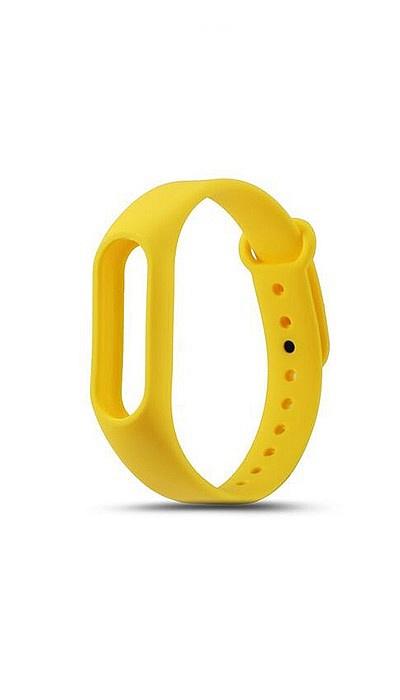 все цены на Ремешок для фитнес-браслета Силиконовый ремешок для Xiaomi Mi Band 2 (желтый), желтый онлайн