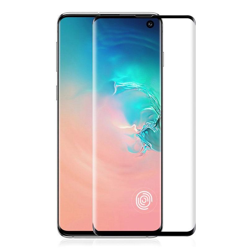 Защитное стекло Samsung Galaxy S10 (3D черная рамка), черный защитное стекло blueo 3d антишпион для apple iphone xr черная рамка