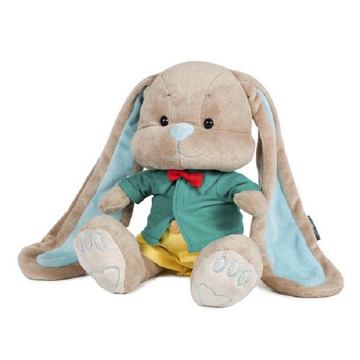 Мягкая игрушка Зайчик Jack and Lin в Желтых Штанишках 25 см в Подарочной Упаковке JL-017-25-KCO игрушки для новорожденных зайчик