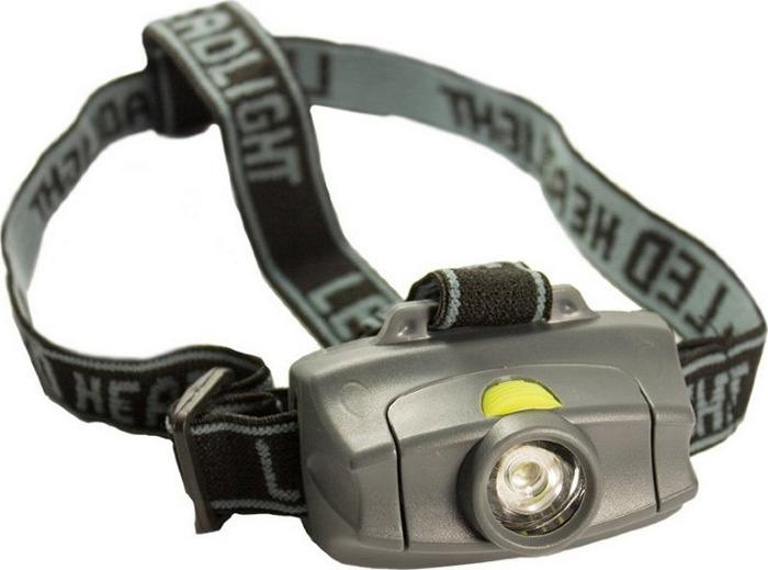 Налобный фонарь Atum H1 Osram Led AAA, R37167, серый