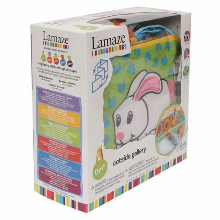 Развивающий бортик - книжка в кроватку Lamaze lamaze игрушка котенок митти lamaze