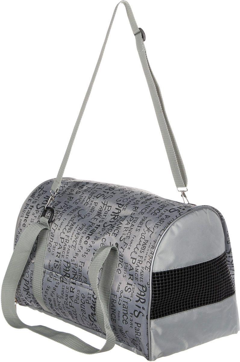 Переноска Теремок Сумка-переноска для животных малая цвет серый, 22*21*33 см., серый сумка переноска для животных теремок размер 50х28х30см