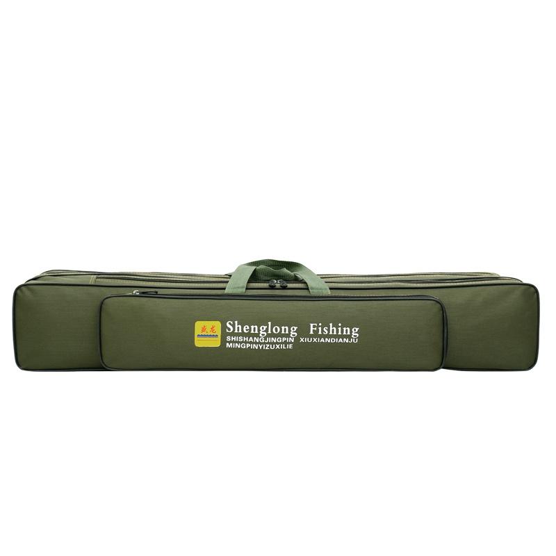 Ящик снастей Чехол-сумка для рыболовных и охотничьих аксессуаров 5 отсеков длина 90 см