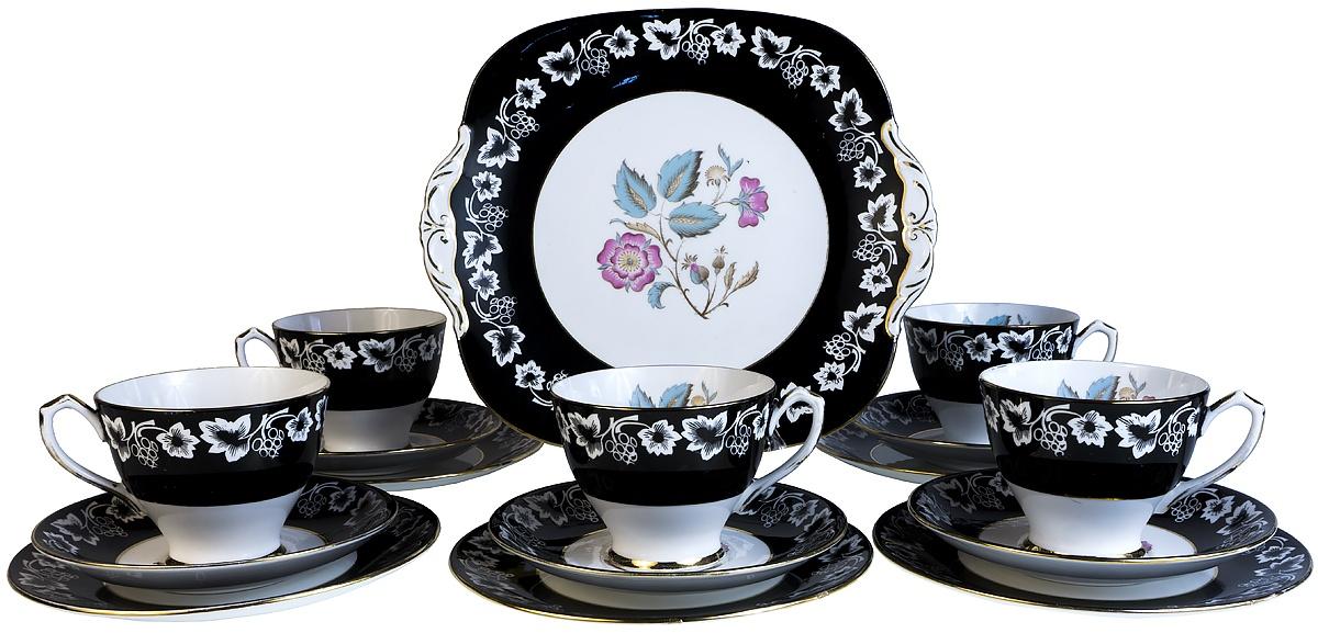 Набор для чая Kenyon Сервиз чайный Кеньон на 5 персон, 16 предметов. Английский фарфор, середина 20 века набор форм для запекания home queen диаметр 18 5 см 3 шт