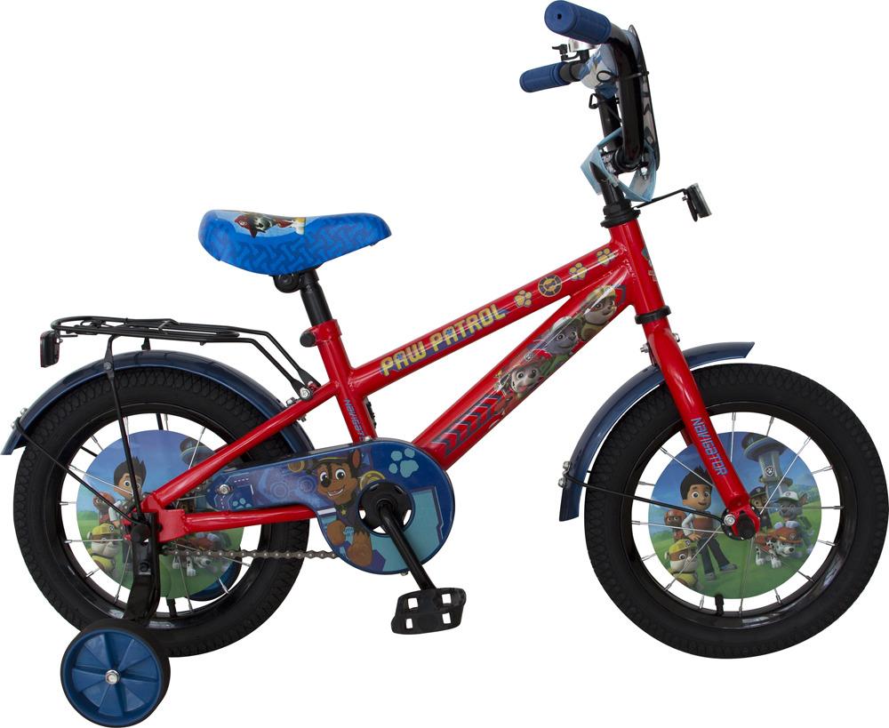 Велосипед детский Navigator Щенячий патруль, ВН14186, красный, голубой, колесо 14