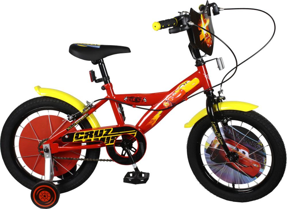 Велосипед детский Disney Тачки, ВН16123, разноцветный, колесо 16