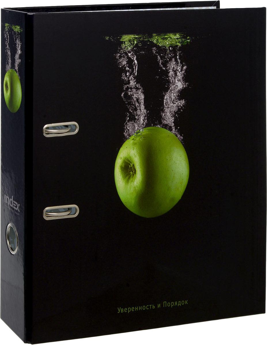 Папка-регистратор Index Черная вода, А4, корешок 80 мм, IN111138 папка регистратор 80 мм эконом без покрытия