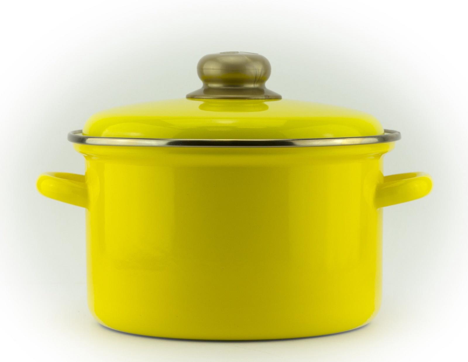 Кастрюля Эмаль 2 литра с металлической крышкой 2 л
