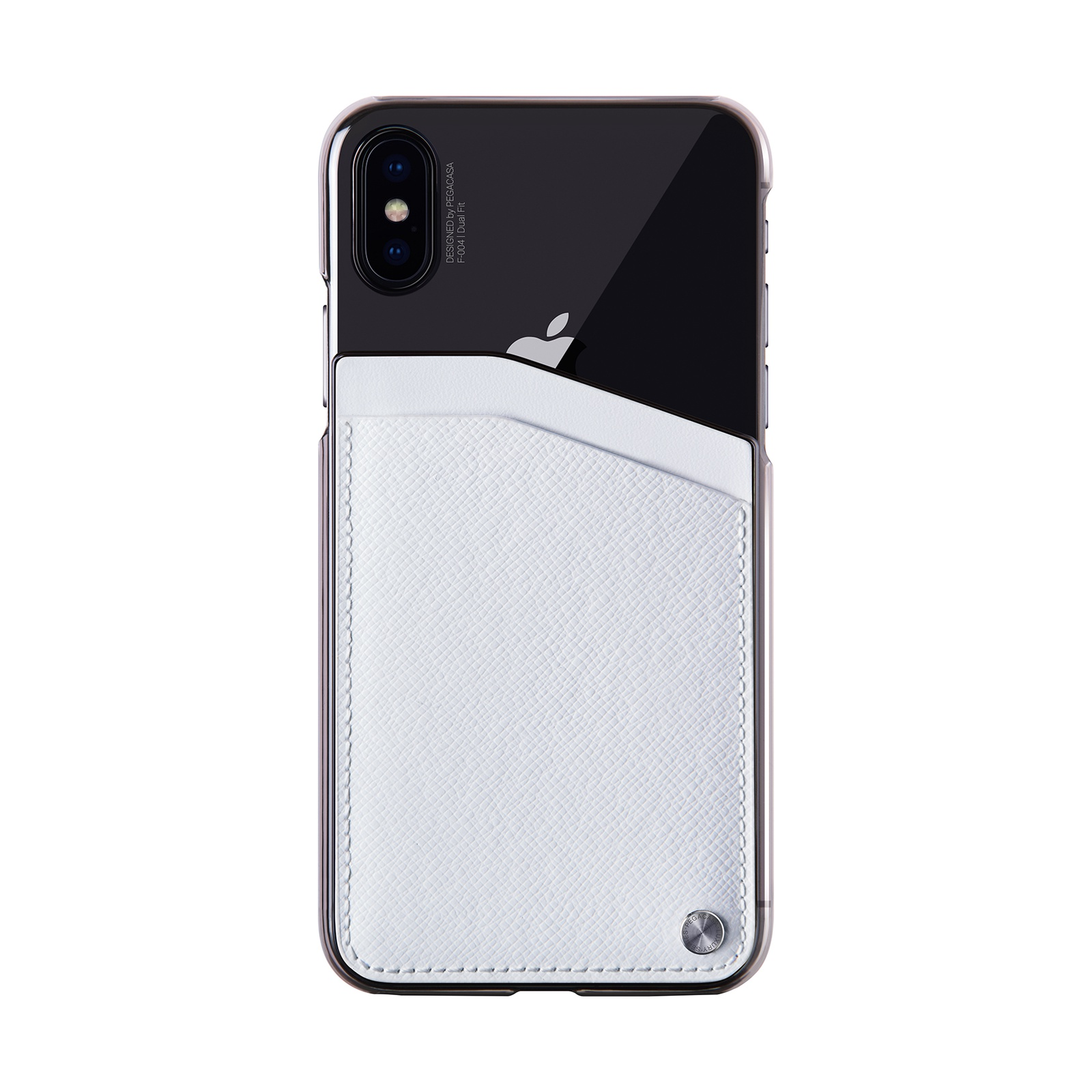 Фото - Чехол для сотового телефона PEGACASA F-004 Dual Fit для iPhone XS/X, белый calmoon 004 high quality dual ring detachable keychain keyring black silver