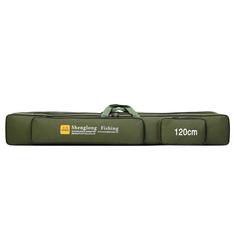 Ящик снастей Чехол-сумка для рыболовных и охотничьих аксессуаров 3 отсека длина 120 см
