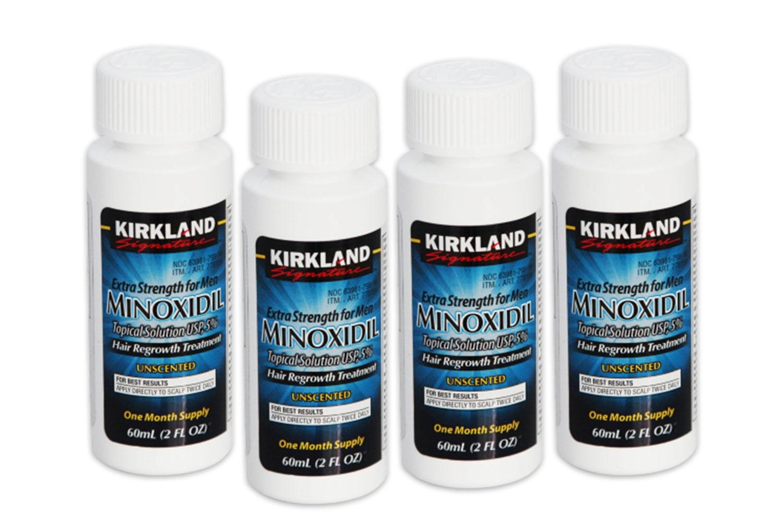 Сыворотка для волос Kirkland Minoxidil Signature Усилитель роста 5% 4 флакона