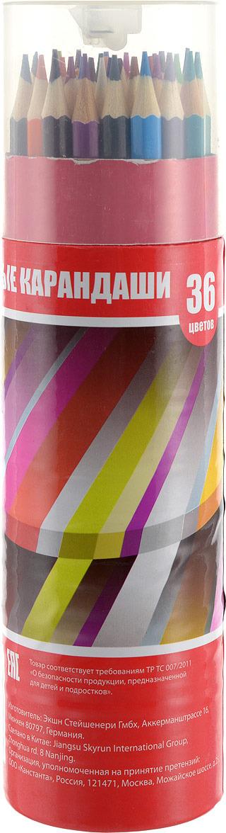 Набор карандашей Action!, с точилкой, ACP103-36, 36 цветов цены онлайн