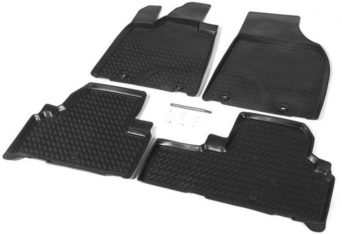 Коврики салона Rival для Lexus RX III рестайлинг 5-дв. 2012-2015, полиуретан, с крепежом, с перемычкой, 4 шт. 13201001 коврики салона rival для toyota rav4 2013 2015 2015 н в резина 65706001