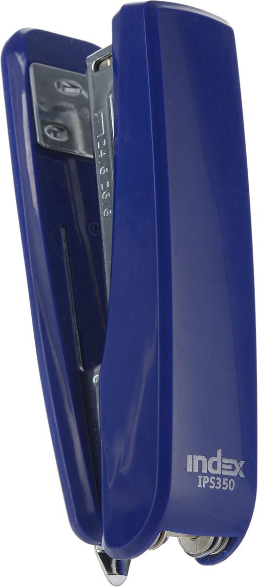 Степлер Index, IPS350/BU, темно-синий, скоба 24/6, 26/6, на 30 листов степлер index ips610 bu 20 листов