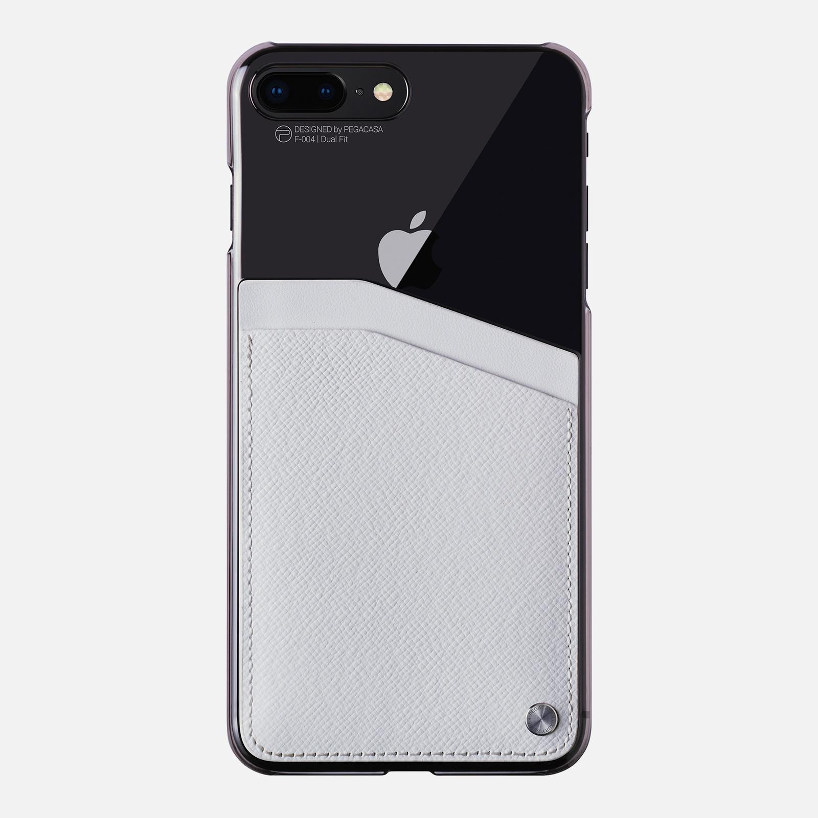 Фото - Чехол для сотового телефона PEGACASA F-004 Dual Fit для iPhone 7/8 Plus, белый calmoon 004 high quality dual ring detachable keychain keyring black silver