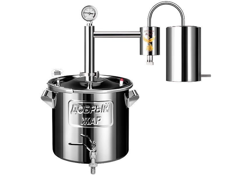 Дистиллятор бытовой Добрый жар Дистиллятор Домашний 40 литров дистиллятор проточный добрый жар домашний 20 литров