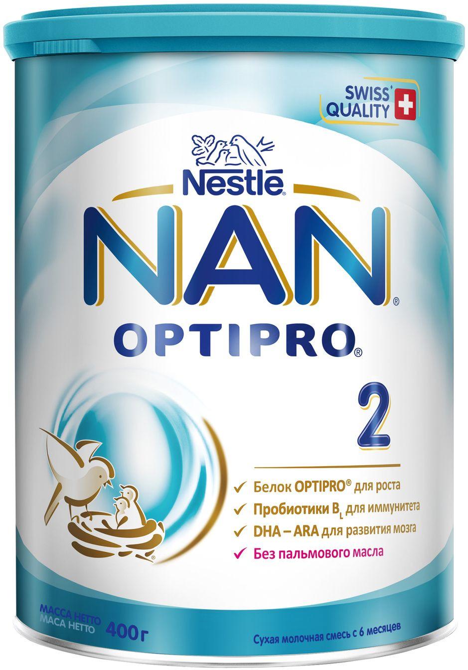 NAN 2 OPTIPRO смесь молочная, с 6 месяцев, 400 г