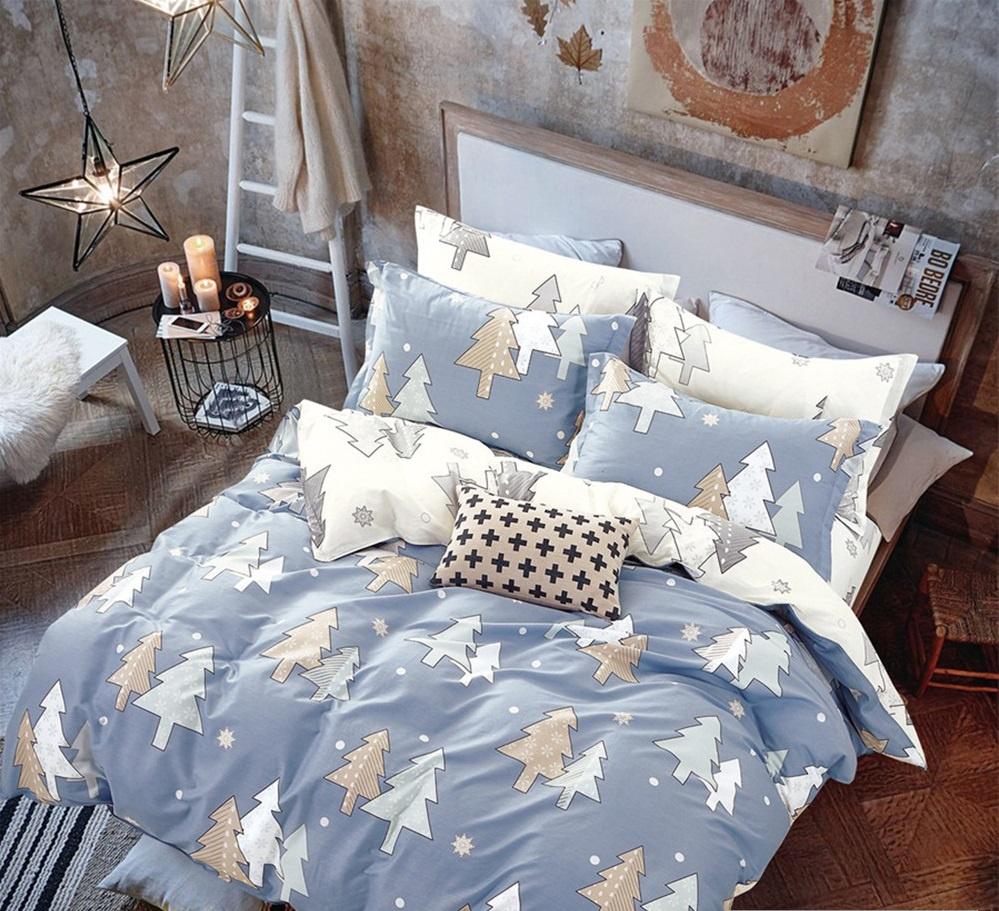 Комплект постельного белья Дом Текстиля SULYAN Ёлки, бежевый, кремовый, белый, светло-серый, серый, коричневый цена и фото