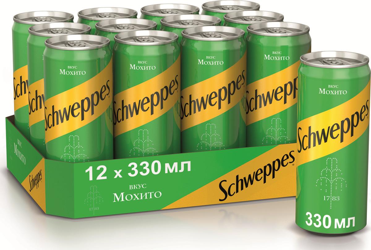 Газированный напиток Schweppes Mojito, 0,33 л х 12 шт