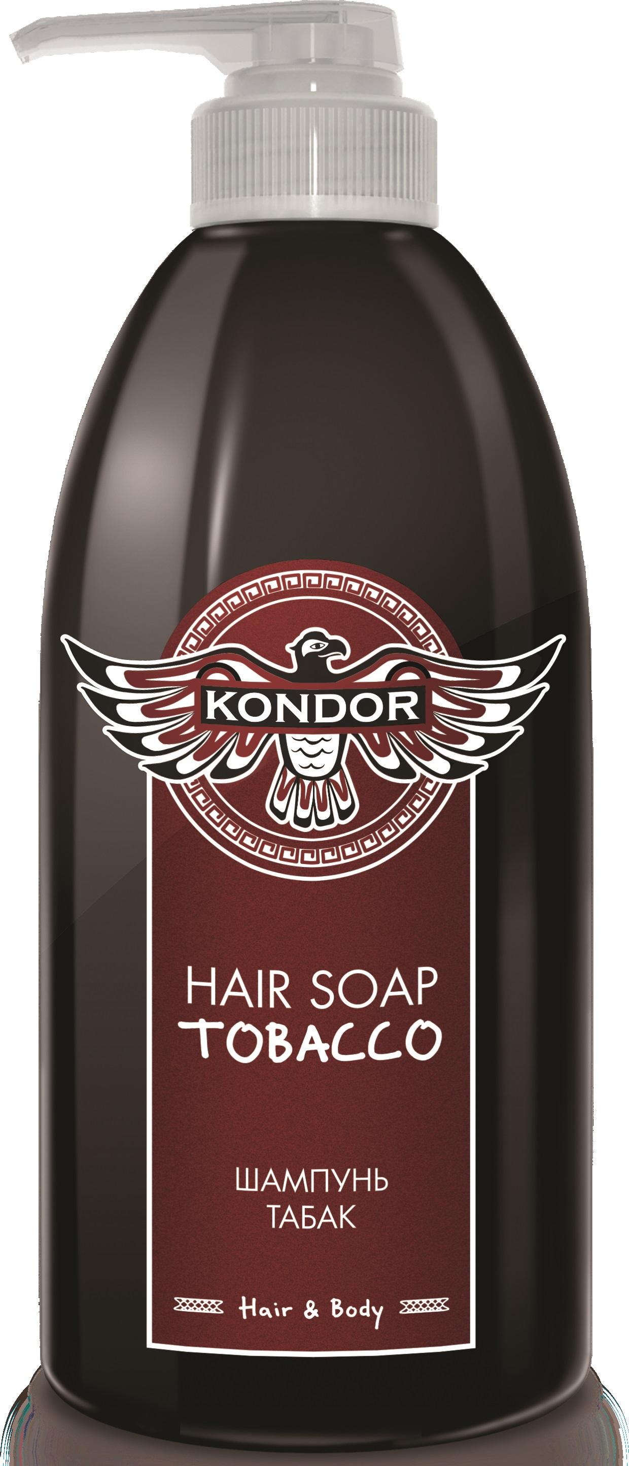 """Шампунь для волос KONDOR HAIR - BODY для ежедневного ухода """"Табак"""" 750 мл"""