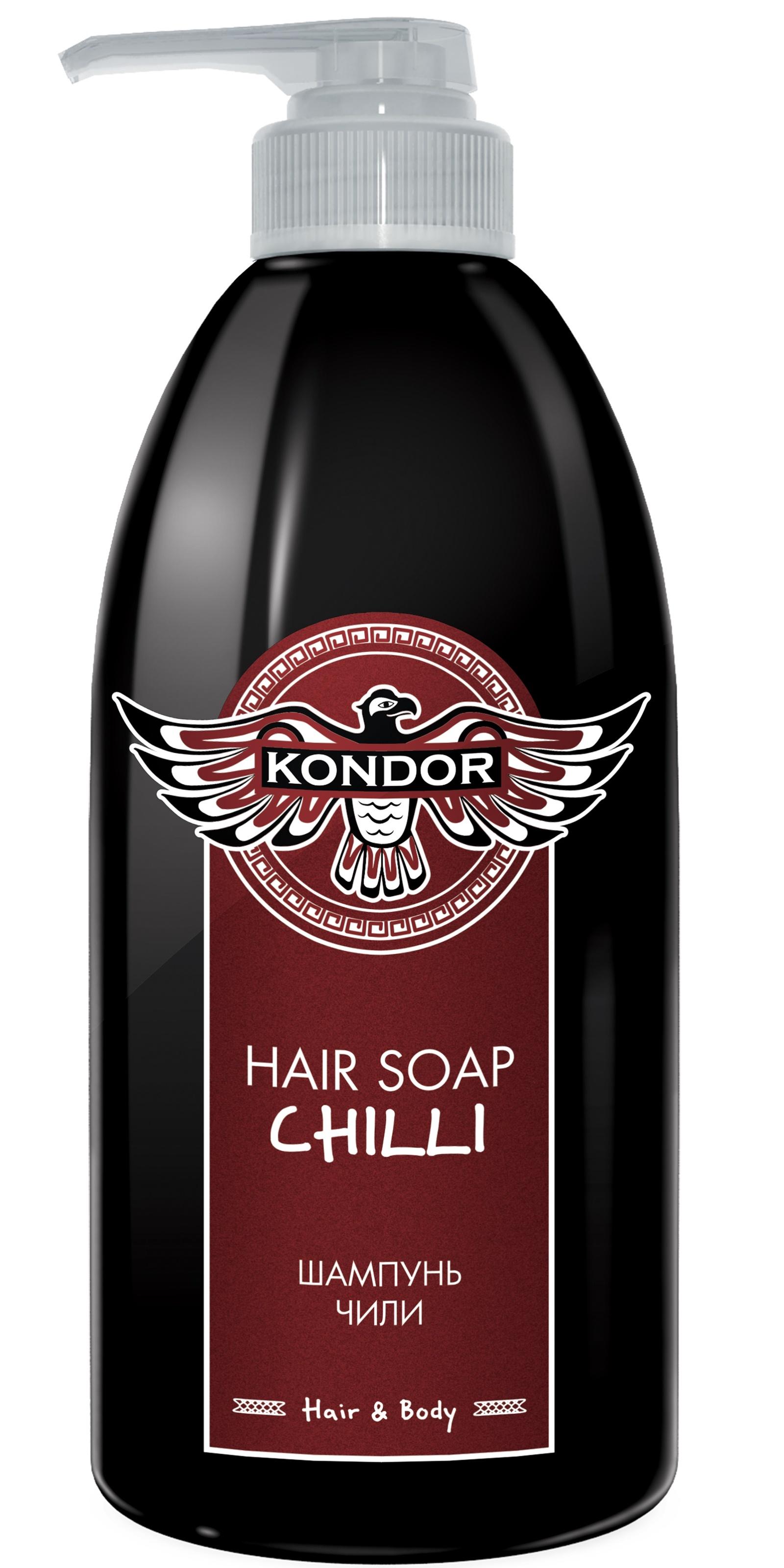 """Шампунь для волос KONDOR HAIR - BODY против выпадения волос """"Чили"""" 750 мл"""