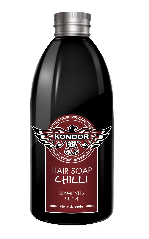 """Шампунь для волос KONDOR HAIR - BODY против выпадения волос """"Чили"""" 300 мл"""