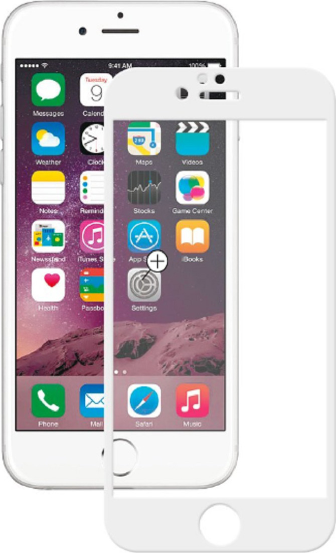 Защитное стекло Deppa 3D для Apple iPhone 6/6S, белый защитное стекло 3d deppa 61997 для apple iphone 6 6s 0 3 мм черное