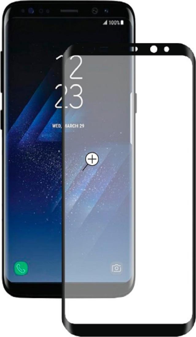 Защитное стекло Deppa 3D для Samsung G955 Galaxy S8+, черный смартфон samsung galaxy s8 plus sm g955 золотистый