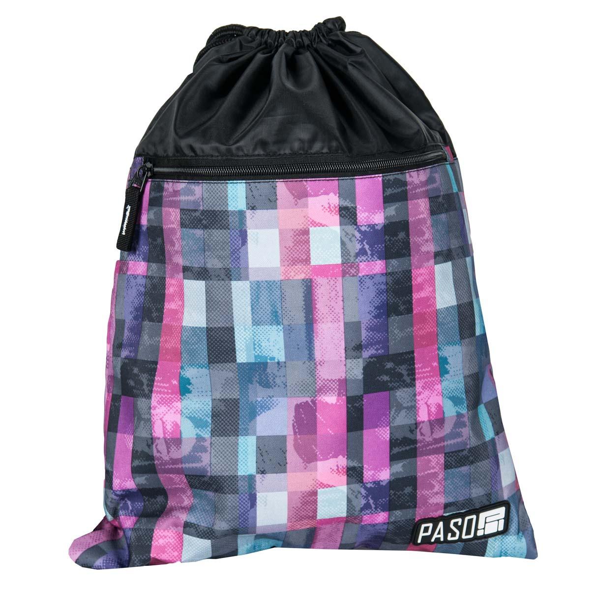 Сумка для сменной обуви PASO square pink, черный, розовый, разноцветный