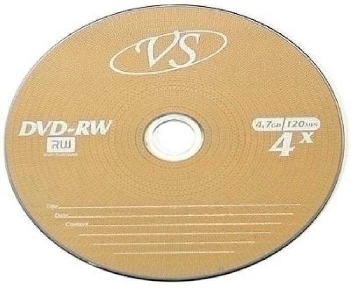 DVD+RW VS 4,7 GB 4x SL дятел dvd r 16 серия скорость движения 4 7 г диски оранжевый ствол 50