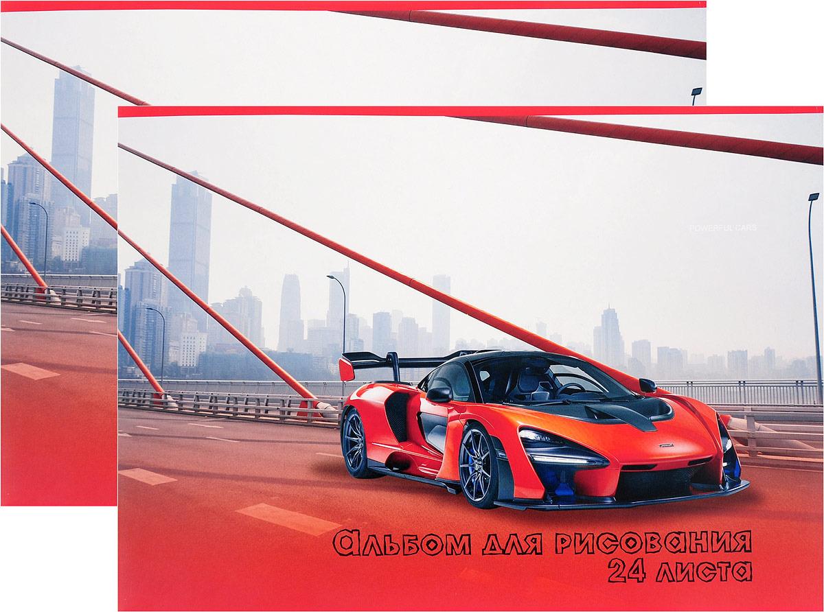 Набор альбомов для рисования Action! Спортивные автомобили, AA-24/15/2, 24 листа, 2 шт цены