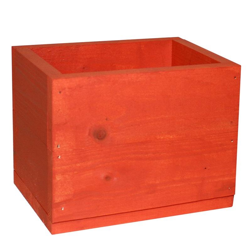 Ящик для цветов FLORS БО3, оранжевый FLORS
