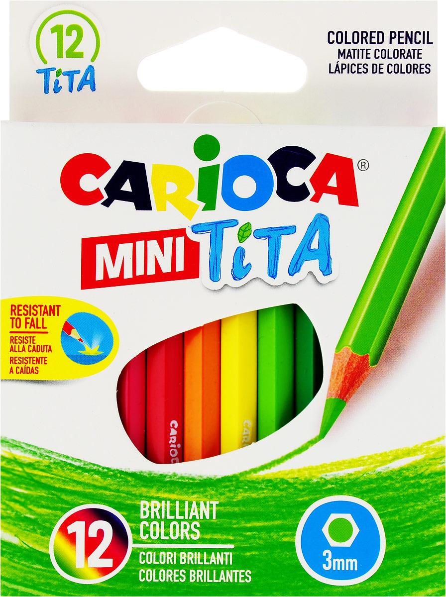 Набор карандашей Carioca Mini Tita, 42323, 12 цветов набор шаров блестки 4 шт в картонной коробке 7 см 4 цв