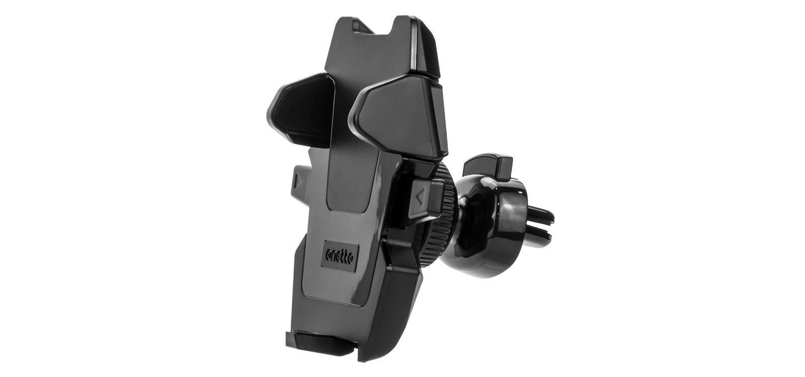 Автомобильный держатель Onetto Vent Mount Easy One Touch в воздуховод для телефона VM2 SM5, черный автомобильный держатель onetto mount easy view 2 черный