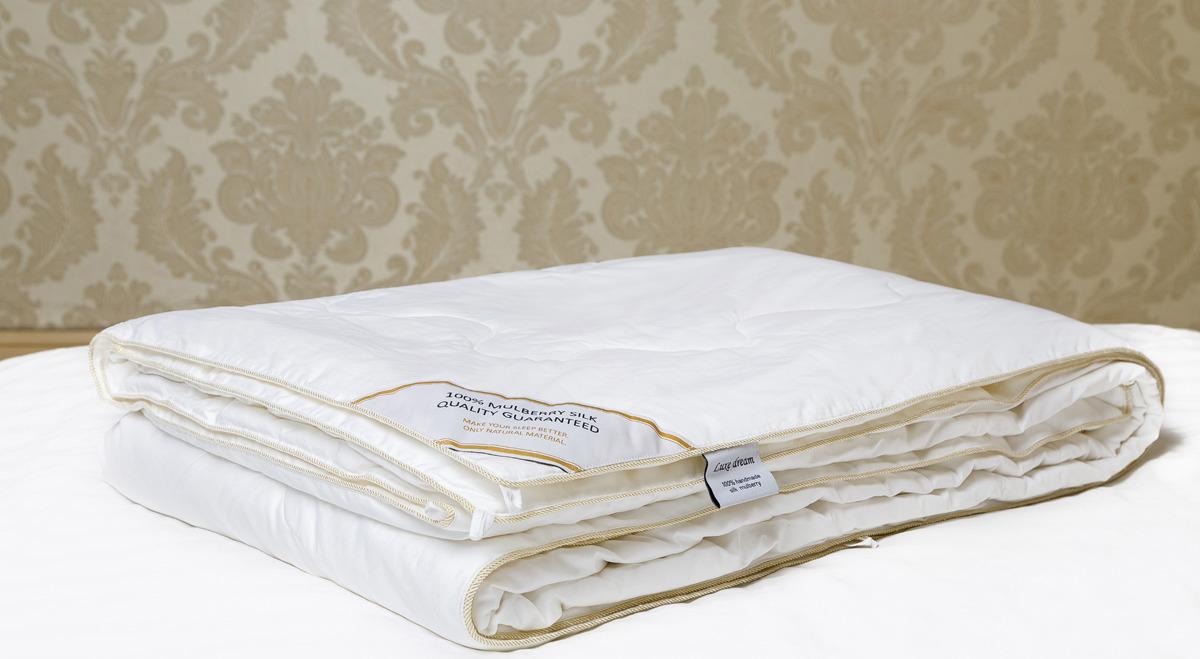 Шелковое одеяло Luxe Dream Premium Silk , DC1001, белый, 140 х 205 см