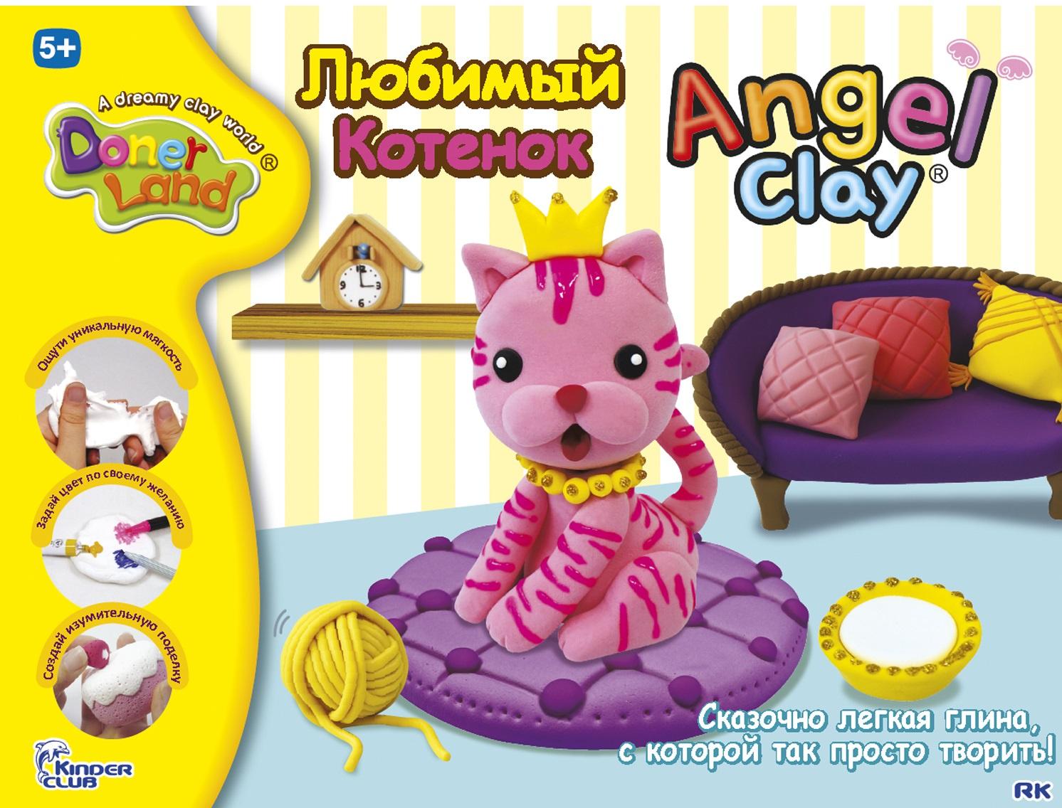 наборы для лепки angel clay набор для лепки angel clay шоколадная мастерская на русском языке Масса для лепки Angel Clay Кошечка (Lovely My Cat)
