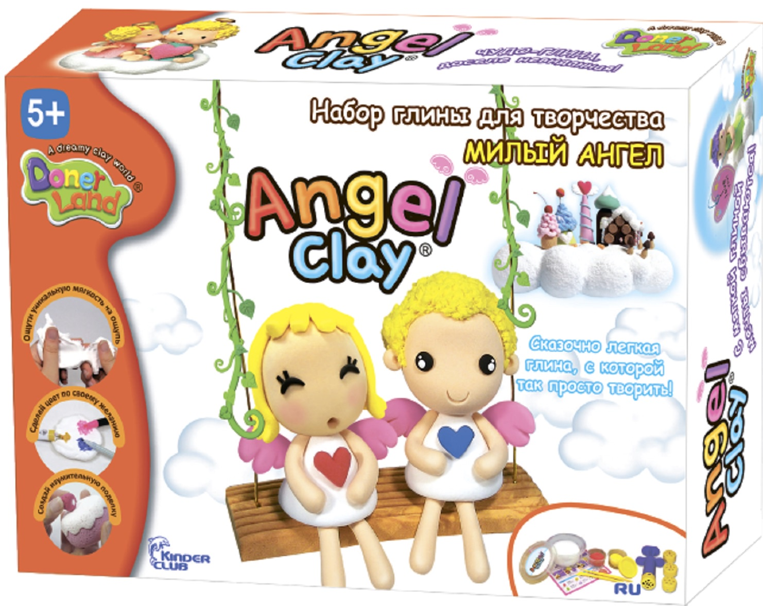 наборы для лепки angel clay набор для лепки angel clay шоколадная мастерская на русском языке Масса для лепки Angel Clay Милый ангел