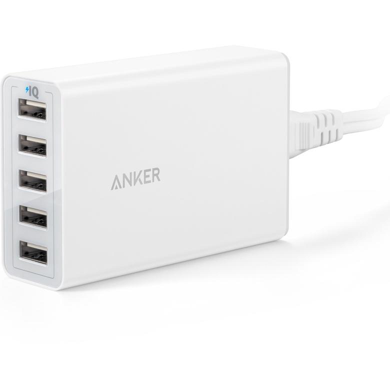 Зарядное устройство ANKER PowerPort 5 25W, A2134L21, белый цена и фото
