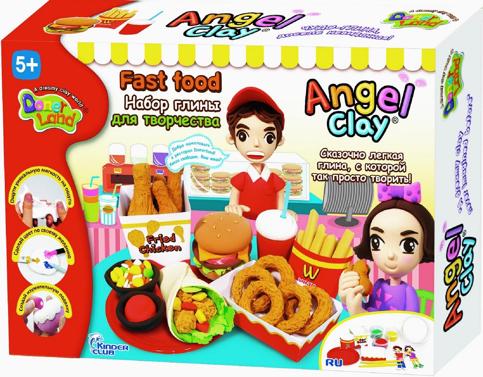 наборы для лепки angel clay набор для лепки angel clay шоколадная мастерская на русском языке Масса для лепки Angel Clay Фастфуд (Fastfood)