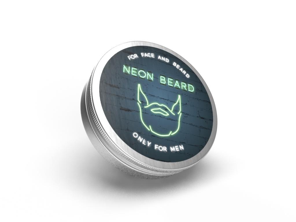 "Масло косметическое NEON BEARD пластилин для лица, шеи и бороды ""GREEN NEON"""