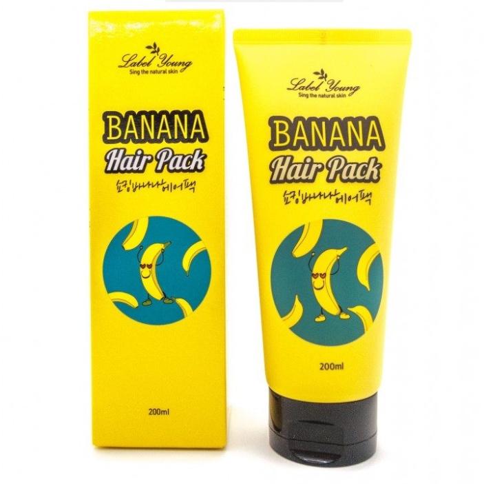 Маска для волос Label Young Banana Hair Pack банановая 200 мл 45pcs pack kawaii rabbit mini paper stickers decoration diy scrapbooking sticker stationery baking seal decoration label