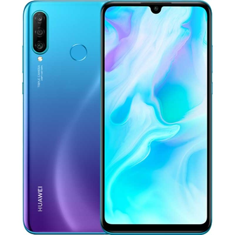Смартфон Huawei P30 lite 4/128GB Peacock Blue, голубой huawei mate 20 128gb 4g midnight blue смартфон